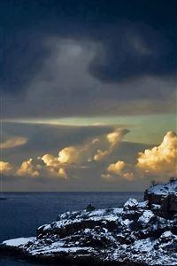 Coastal Landscape At Dusk iPhone 4s wallpaper