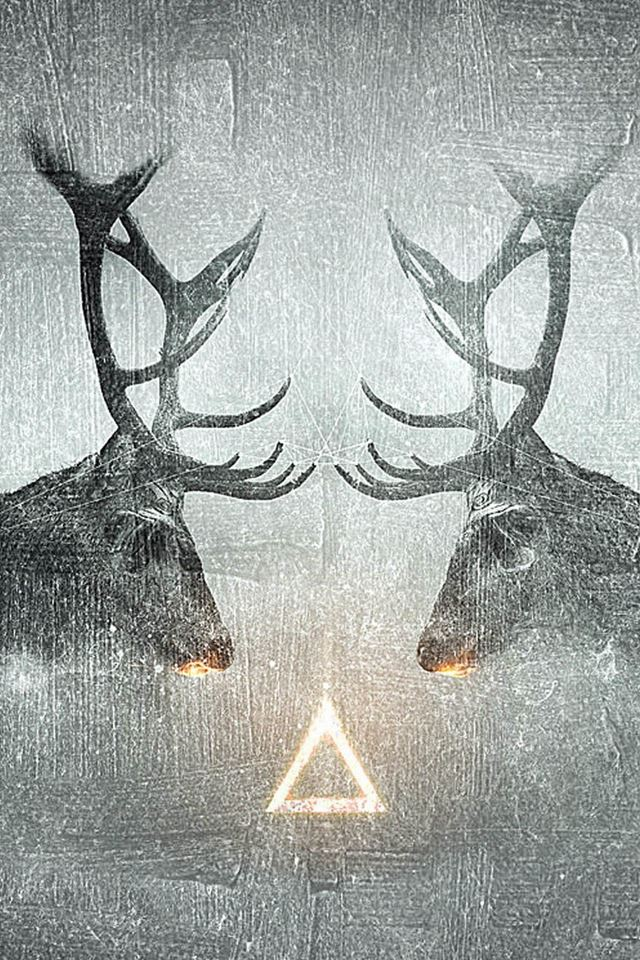 Fantasy Elk CP Animal Shadow iPhone 4s wallpaper