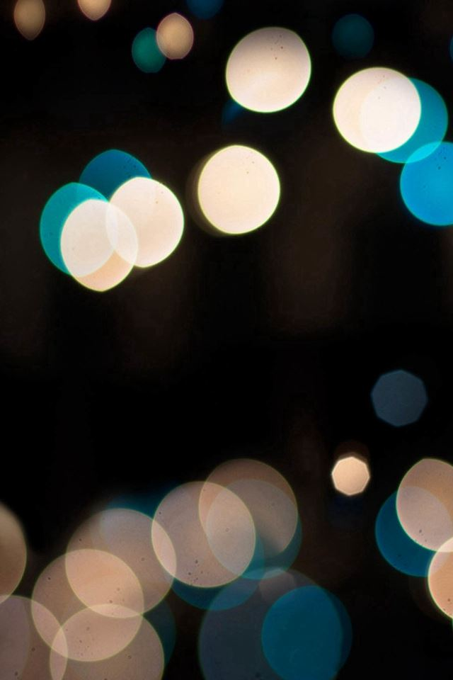 Abstract Spot Dark Bokeh Flare iPhone 4s wallpaper