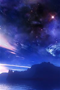 Night Sky iPhone 4s wallpaper