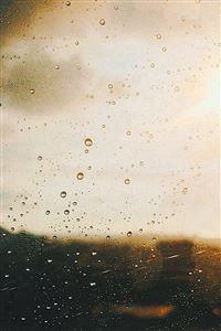 Rain Window Day Sunlight Bokeh iPhone 4s wallpaper
