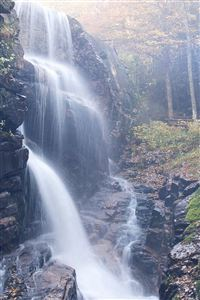 Water Fall Rock Mountain Summer Nature Flare Blue iPhone 4s wallpaper