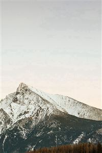 Mountain Simple Fall Snow iPhone 4s wallpaper