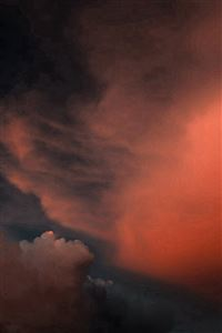 Cloud Sky Sunset Red Dark Nature Pattern iPhone 4s wallpaper