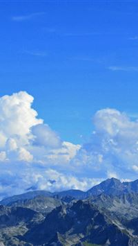 Pyrenees France Mountains Panorama iPhone 4s wallpaper