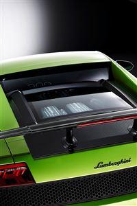 Green Lamborghini iPhone 4s wallpaper