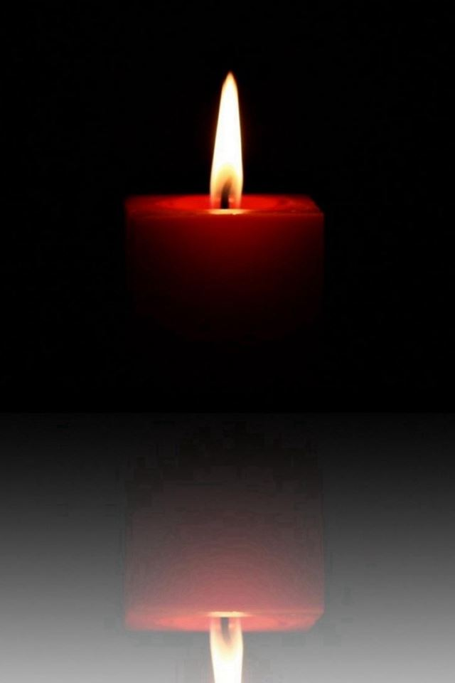 Candle Flame Image Reflection Dark iPhone 4s wallpaper