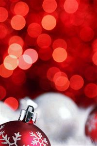Christmas Bokeh Holiday Red Illustration Art iPhone 4s wallpaper