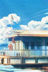 Sea Illustration Art Anime Painting iPhone 4s wallpaper