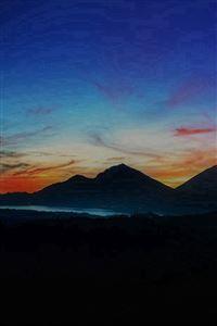 Mountain Sunrise Nature Best Sky Dark iPhone 4s wallpaper