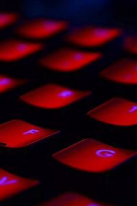 Dark Red Keyboard Coding iPhone 4s wallpaper