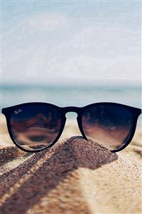 Nature Glass Sun Rayban Bokeh Vacation Sea Summer iPhone 4s wallpaper