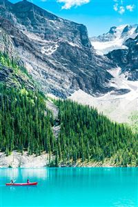 Pure Clear Lake Mountain Scenery iPhone 4s wallpaper