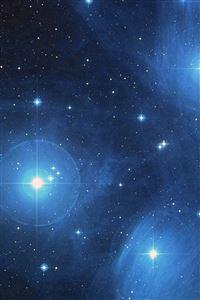 Space Dark Star Blue Pattern iPhone 4s wallpaper