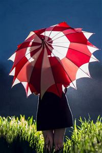 Dark Night Umbrella Girl iPhone 4s wallpaper
