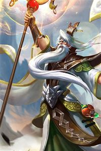 King Glory Jiang Ziya Game Poster iPhone 4s wallpaper