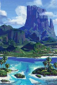 Sea Anime Paint Summer Illustration Art Anime iPhone 4s wallpaper