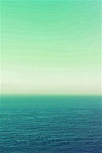 Calm Sea Green Ocean Water Summer Day Nature iPhone 4s wallpaper