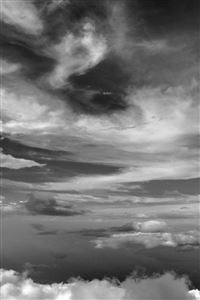 Cloud Sky Nature Dark Bw iPhone 4s wallpaper