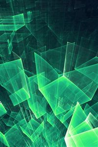 Abstract Blue Green Cube Pattern iPhone 4s wallpaper