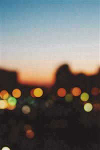 Light Bokeh Sunset City Scene iPhone 4s wallpaper