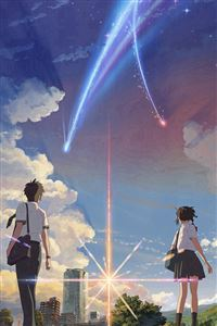 Anime Film Yourname Sky Illustration Art iPhone 4s wallpaper