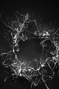 Crack Glass Dark Bw Texture Pattern iPhone 4s wallpaper