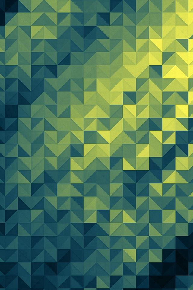 Polygon Dark Triangle Background Green Pattern iPhone 4s wallpaper