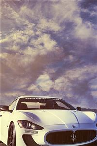 Splendid Maserati Sports Car Sky View iPhone 4s wallpaper