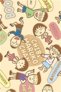 Chibi Maruko Cartoon Pattern Background iPhone 4s wallpaper