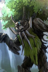 Dota 2 Treant Protector Trees Art iPhone 4s wallpaper