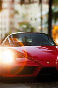 Ferrari Enzo Red Side View iPhone 4s wallpaper