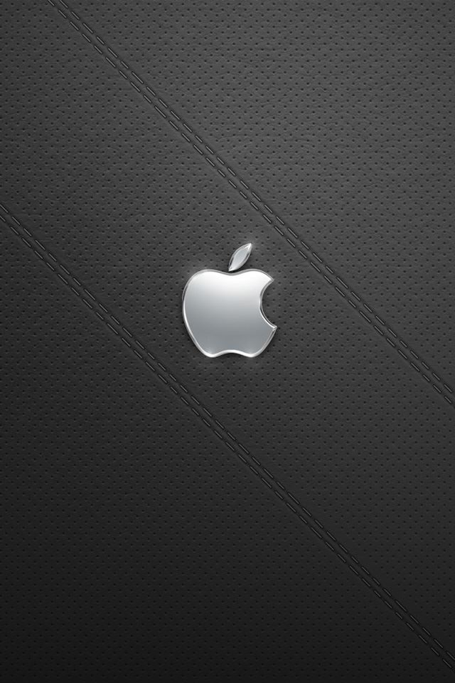Shiny Silver Apple iPhone 4s wallpaper