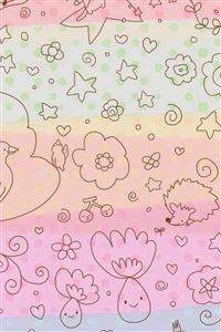 Dreamy Anime Cute Kitten Pattern Painting Background iPhone 4s wallpaper