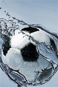 Football Ball Exercise Water Abstraction iPhone 4s wallpaper