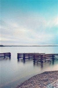 Lake Calm Nature Beautiful Sea Water Blue Flare iPhone 4s wallpaper