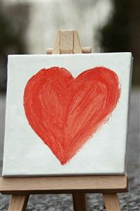 Love Heart Painting Board Artwork iPhone 4s wallpaper