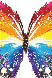 Butterfly Abstract Colorful Patterns iPhone 4s wallpaper