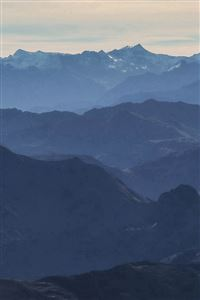 Morning Mountain Fog Blue Sky Nature iPhone 4s wallpaper