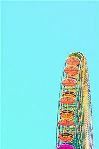 London Eye Colorful Ferris Wheel iPhone 4s wallpaper