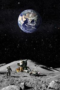 Moon Landing iPhone 4s wallpaper