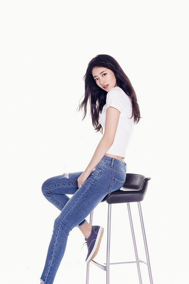Suji Kpop Girl White Jean iPhone 4s wallpaper