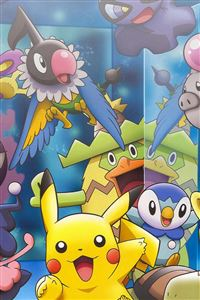 Pokemon Characters iPhone 4s wallpaper