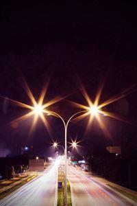 Night Road Exposure Dark Light City Car Vignette iPhone 4s wallpaper