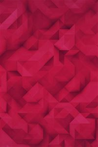 Polygon Art Red Triangle Pattern iPhone 4s wallpaper