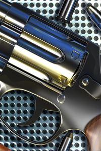 Pistol Chrome iPhone 4s wallpaper