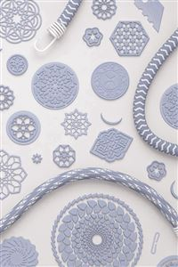 Simple Pattern Art Illustration Blue iPhone 4s wallpaper