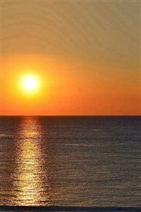 Sunset Sea Sky Nature iPhone 4s wallpaper