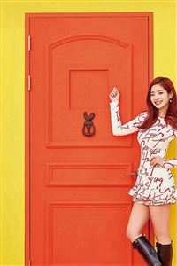 Yellow Girl Kpop Twice Orange iPhone 4s wallpaper