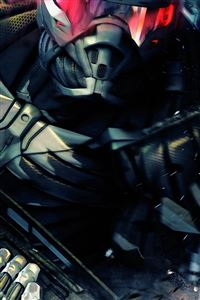 Crysis Robot Fighter Poster iPhone 4s wallpaper